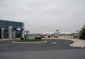 Main terminal at Frederick Airport- Bates Jet